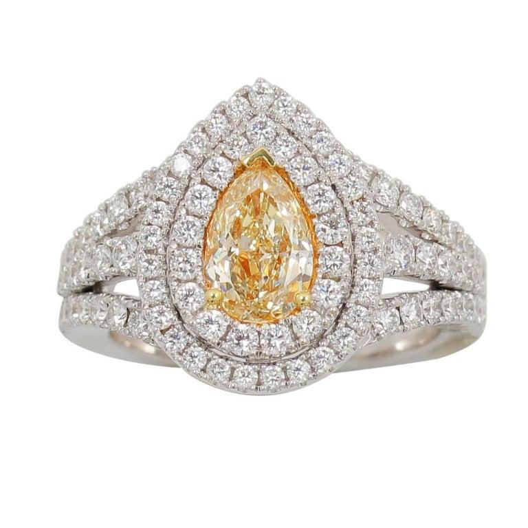 Frederic Sage Yellow Diamond Ring