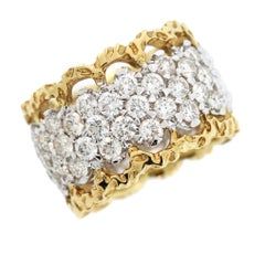 Beautiful Two-Tone Gold and Diamond Band Ring