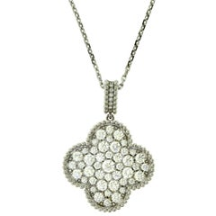 Van Cleef & Arpels Magic Alhambra Long Diamond One Motif Necklace