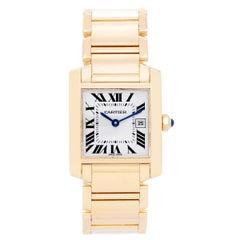 Cartier Yellow Gold Tank Francaise Midsize Quartz Wristwatch