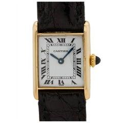 Cartier Ladies yellow gold Mini Tank Louis manual wristwatch, circa 1980s