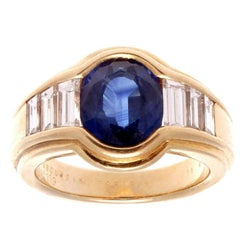Mauboussin Sapphire Diamond Gold Ring