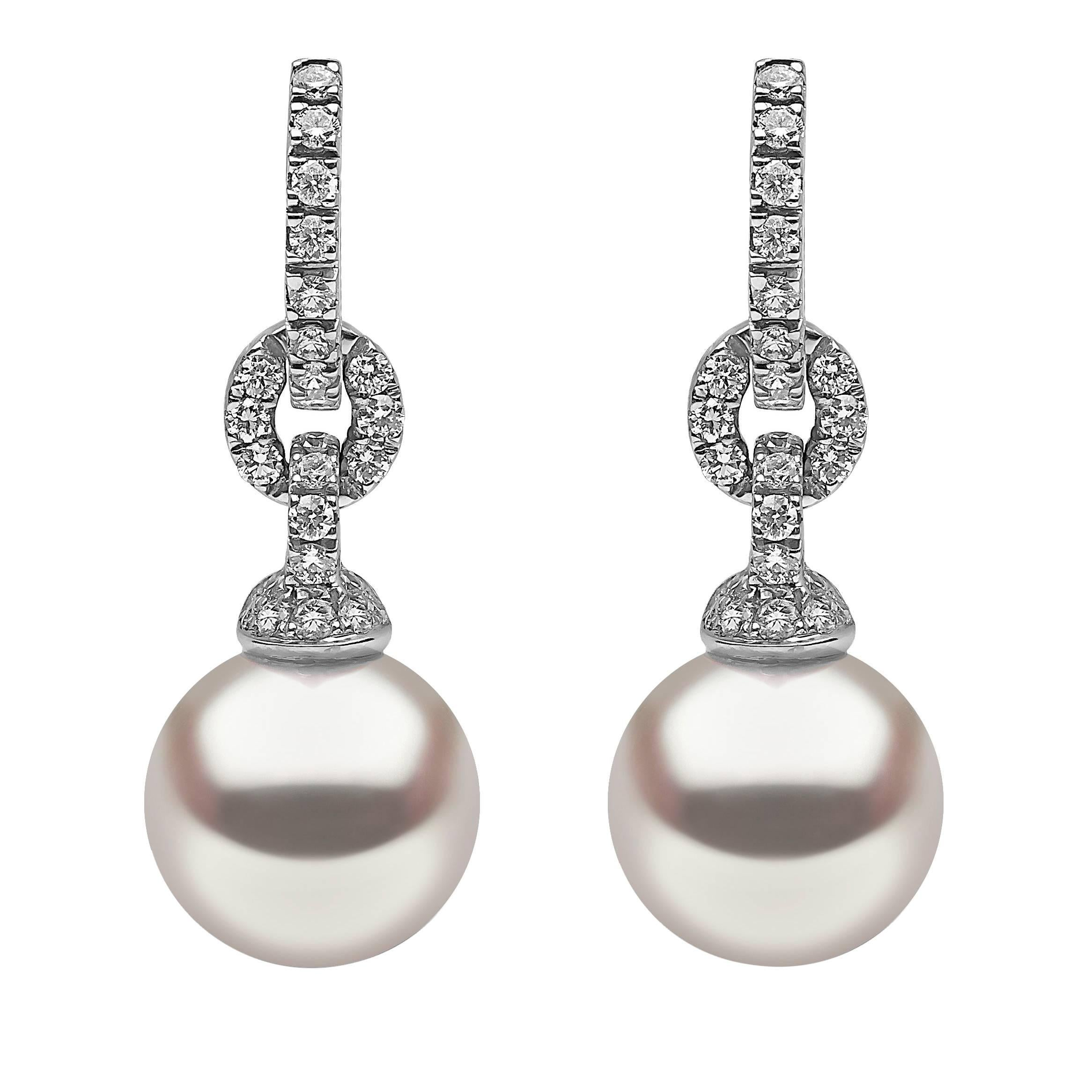 Victoria Six Viola Gold Pearl Drop Earrings T0av37RN