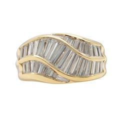 Diamond Baguette Yellow Gold Ring