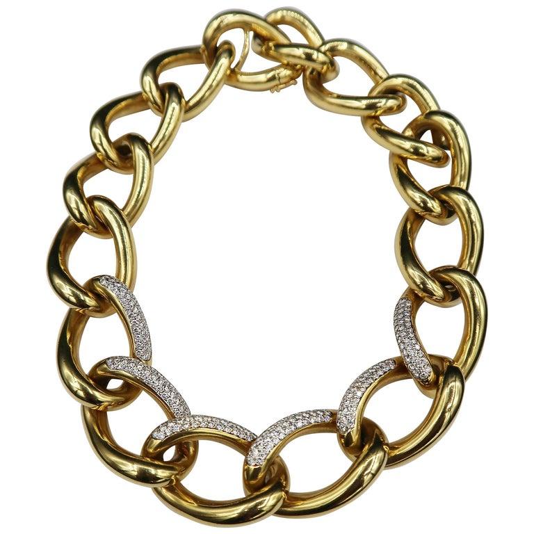 Chunky Diamond Gold Chain