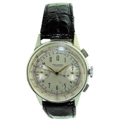 Philippe Stainless Steel Art Deco Chronograph Manual Watch