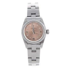 Rolex Ladies Stainless Steel Oyster Perpetual Self-Winding Wristwatch Ref 67180