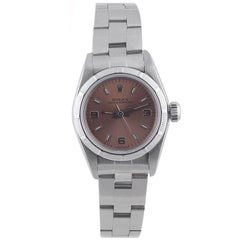 Rolex Ladies Stainless Steel Oyster Perpetual Self-Winding Wristwatch Ref 67180