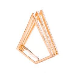 Sophie Birgitt Full Diamond Triangular Cocktail Ring