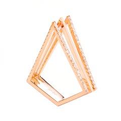 Sophie Birgitt Diamond Triangular Cocktail Ring