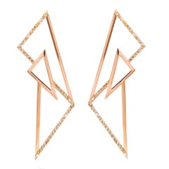 Sophie Birgitt Geometric Diamond Chandelier Earrings