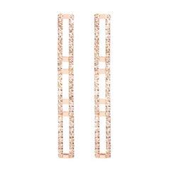 Sophie Birgitt Diamond Rectangular Chandelier Earrings