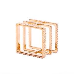 Sophie Birgitt Geometric Square Diamond Cocktail Ring