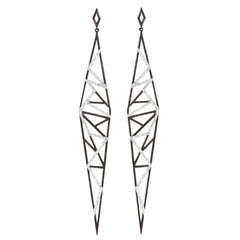 Sophie Birgitt Geometric Diamond Drop Earrings