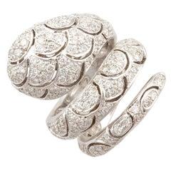 Ella Gafter Diamond Snake Cocktail Ring