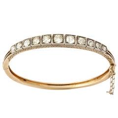 15 kt Old Mine Diamond Bracelet, Late Victorian