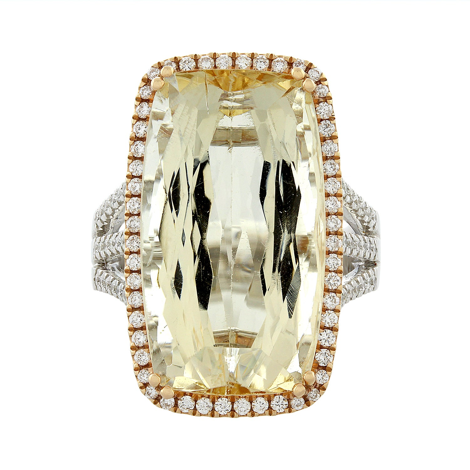 Imperial Topaz Diamond Gold Ring