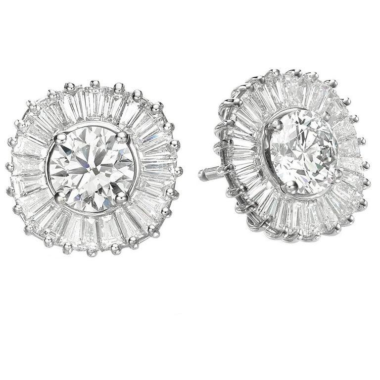 Ballerina Interchangeable Diamond Ruby & Sapphire Earring Set, GIA Cert. D/ VVS1