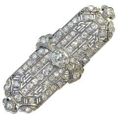 Art Deco Platinum 5.3 Carats of Diamonds Pin