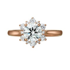 GIA Certified 1.03 Carat Diamond Rose Gold Ring