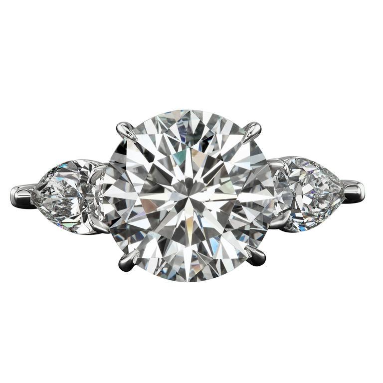 6.28 Carat Diamond Platinum Ring
