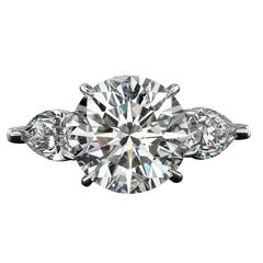 6.28 Carat Diamond Platinum Ring