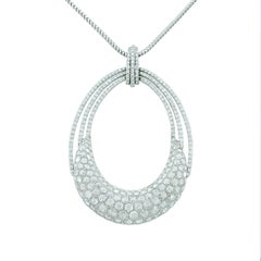Modern Diamond Gold Pendant Necklace