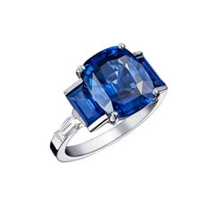 Luna Three-Sapphire Ring and Diamonds