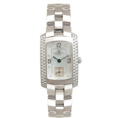 Baume and Mercier Ladies White Gold Diamond Hampton Milleis Quartz Wristwatch