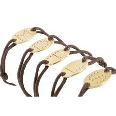 Youmna Fine Jewellery 18 Karat Yellow Gold Venise Initial Bracelet