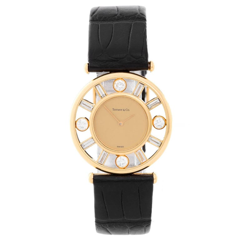 Tiffany & Co. Yellow Gold Diamond Classique Quartz Wristwatch