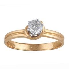 18 Carat Gold Diamond Single Stone Ring