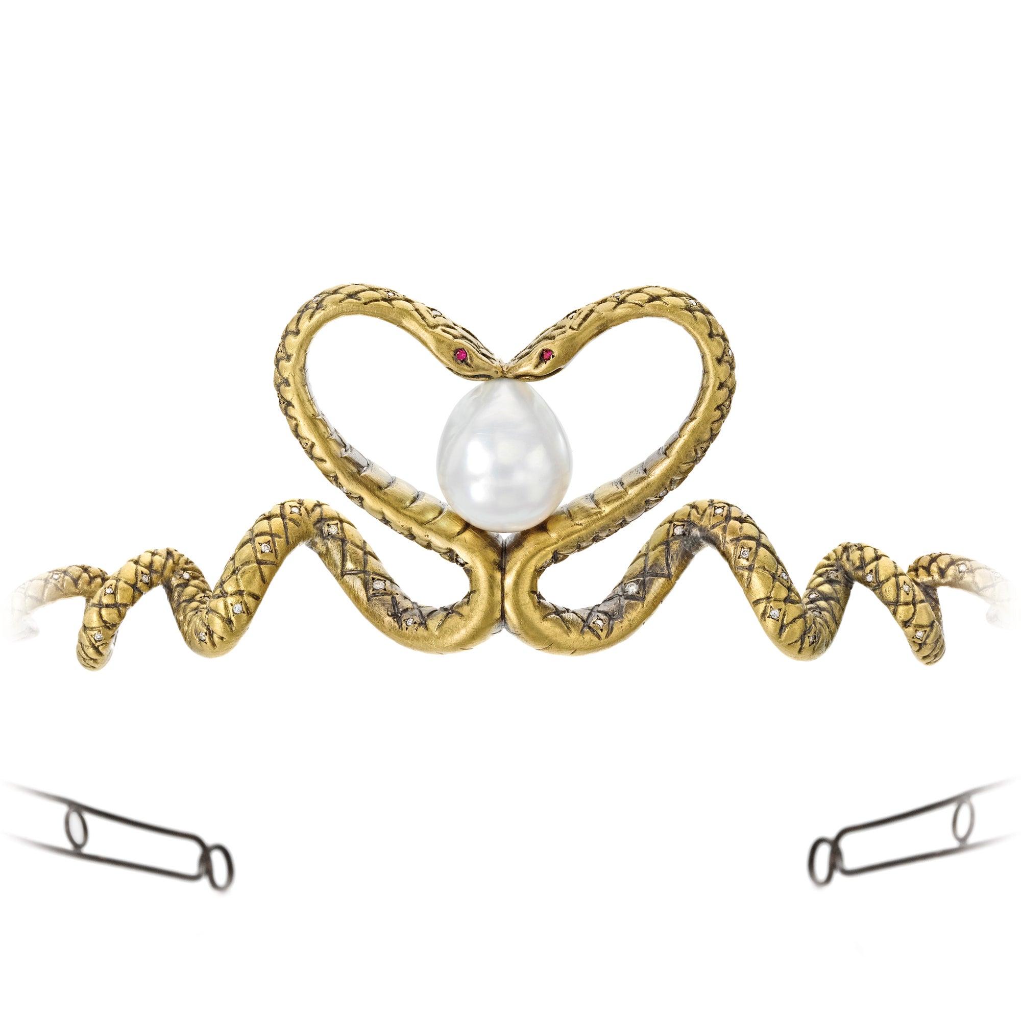 "Wendy Brandes Designer ""Queen of Scots""  Snake Tiara"