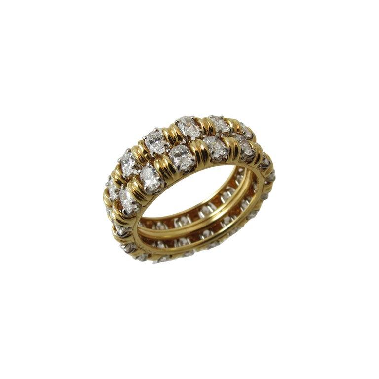 Oscar Heyman Oval Diamond Gold Platinum Eternity Band Ring