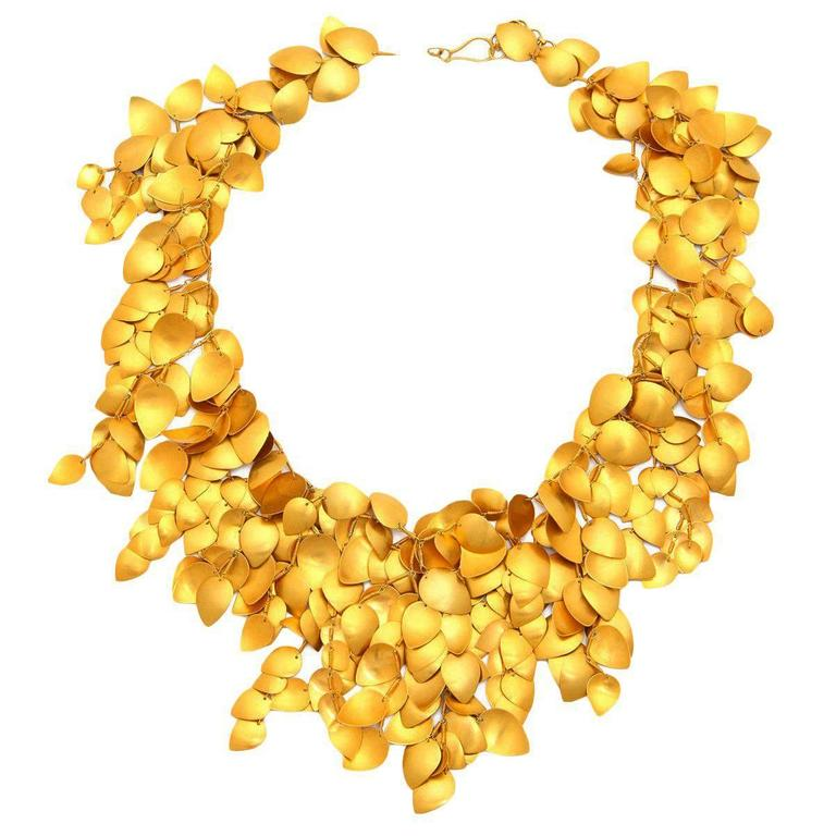Gold Leaf Vine Necklace 1