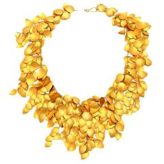 Gold Leaf Vine Necklace