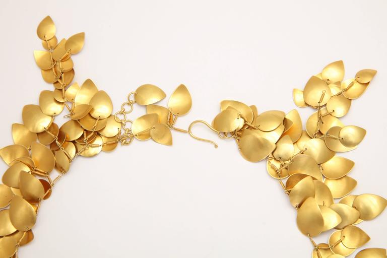 Gold Leaf Vine Necklace 6