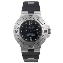 Bulgari Stainless Steel Diagono Professional Scuba Automatic Wristwatch