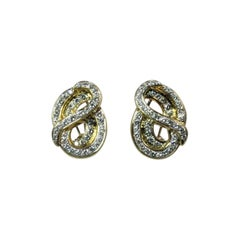 Susan Berman 18 Karat Yellow Gold Diamond Earclips