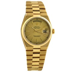 Rolex Yellow Gold Oysterquartz Day-Date Quartz Wristwatch Ref 19018, circa 1979