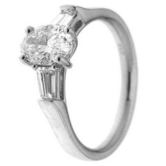 GIA Certified 1.25 Carat White Diamonds and Platinum Engagement Ring