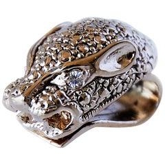 Jaguar Clip On Earring Sapphire J Dauphin In Stock