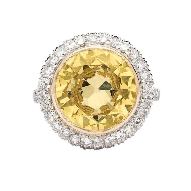 Stunning GIA 6.18 Carat Fancy Light Yellow Diamond Ring