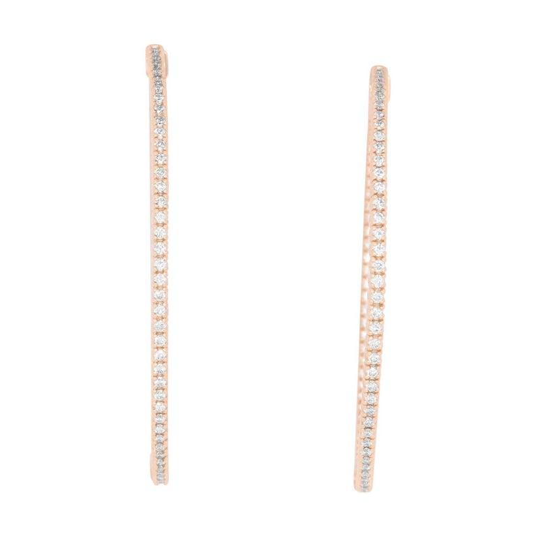 1.60 Carat Diamond Hoop Earrings
