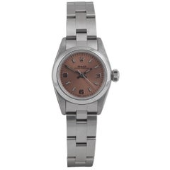 Rolex Ladies Stainless steel Oyster Perpetual automatic wristwatch Ref 67180
