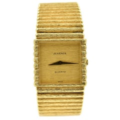 Juvenia yellow gold Bark Finish dial Bracelet Quartz Wristwatch