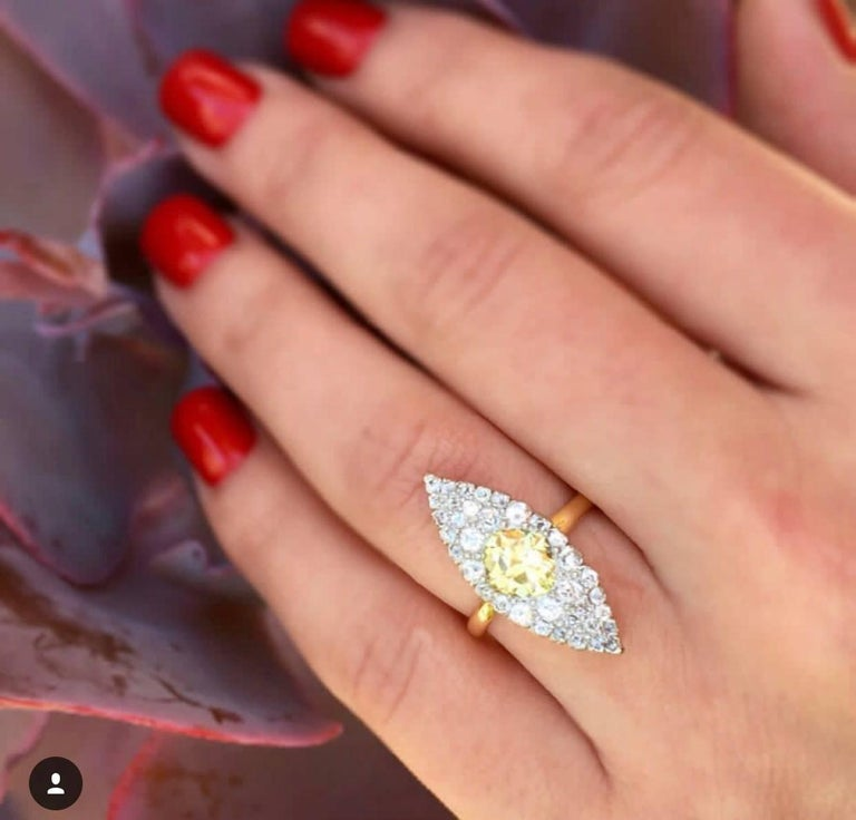 TIFFANY Fancy Yellow Diamond Ring 7