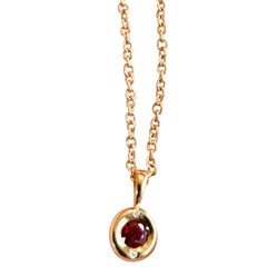 Gemfields Mozambique Ruby and 18 Karat Gold Pendant Necklace