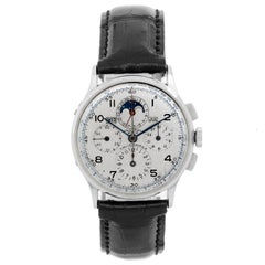 Universal Geneve Stainless steel Tri-Compax Moonphase Chronograph Wristwatch