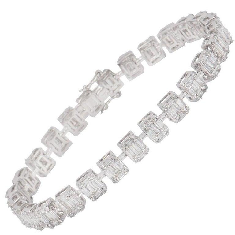Diamond Line Bracelet 5.60 Carat